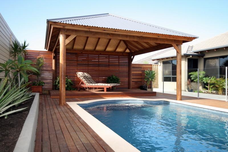 modern skillion roof cabana
