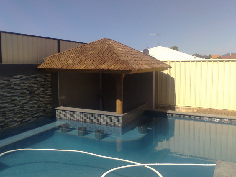What is the difference between patios and alfrescos for Pool design with gazebo