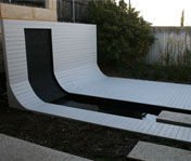 Curved Timber Decking and Screen