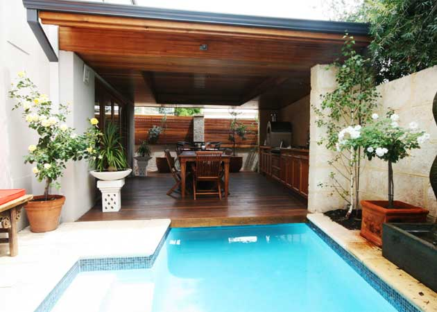 lap pool to alfresco