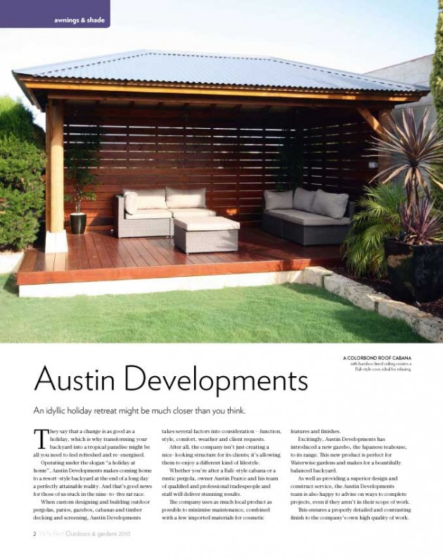 Perths Best Outdoors Austin Developments