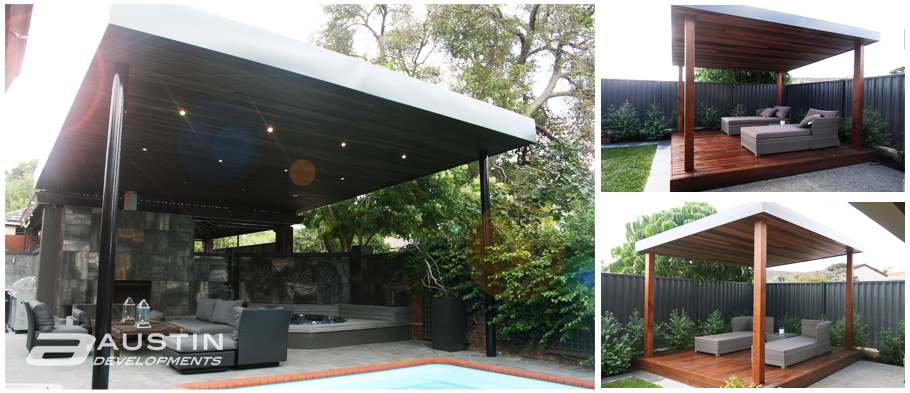 Skillion roof gazebos the latest outdoor design trend for Outdoor cabana designs