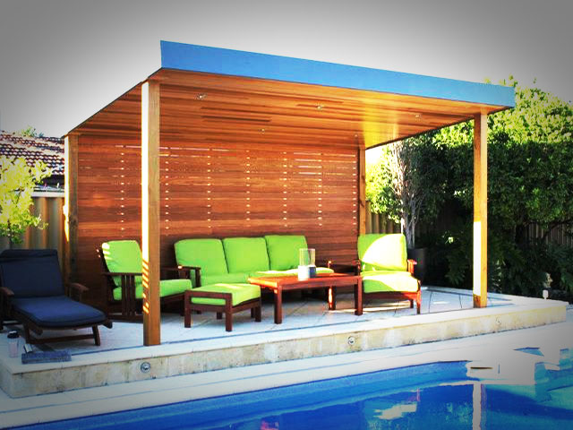 Stunning Perth Poolside Timber Gazebo