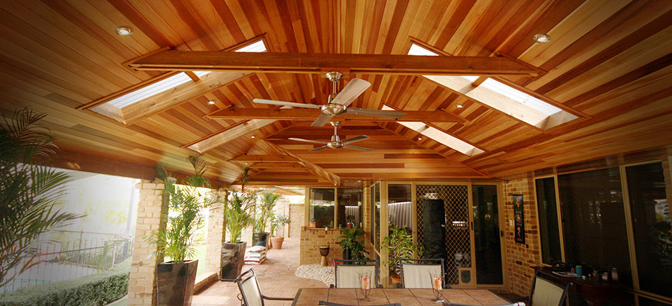 Cedar Lined Timber Patio