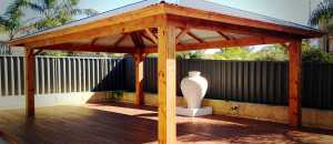 Chunky Posts on Timber Patios