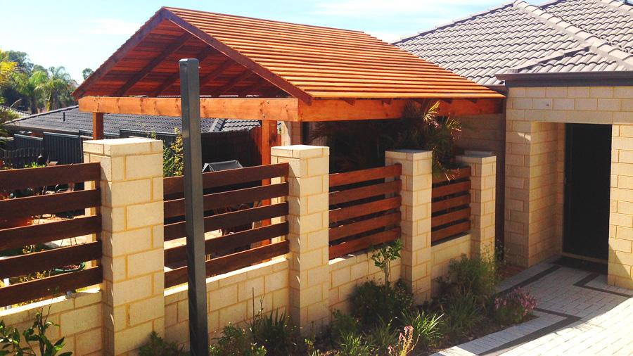 Gabled Cedar Patio Design