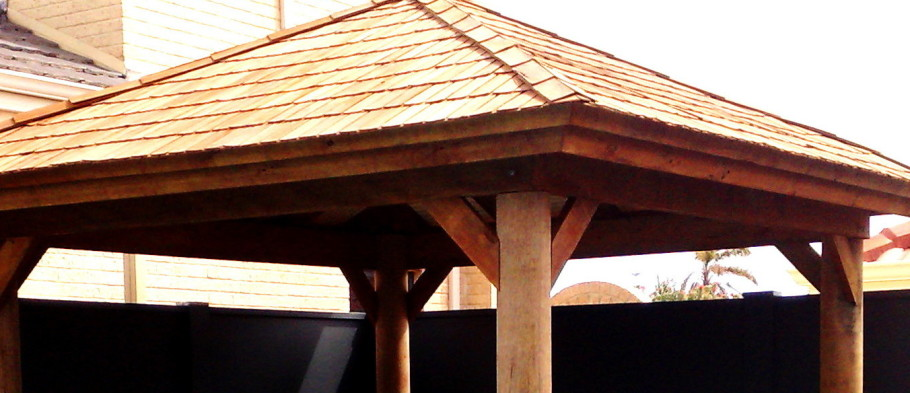 Sheoak shingle roof