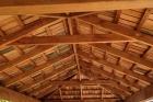 Sheoak shingle roof underside