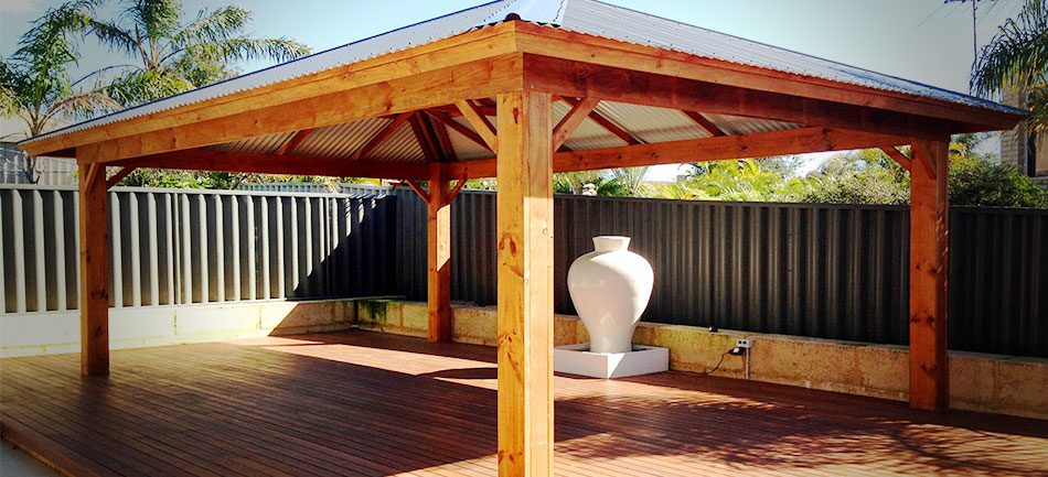Chunky Posts on Timber Patios on Timber Patio Designs id=89297