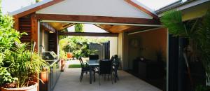 Gabled patio