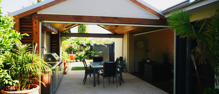 Gabled patio